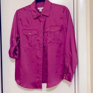 Fashionable ladies button down shirt